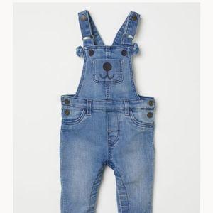 H&M Toddler Boy Denim Bear Overalls (12-18 months)